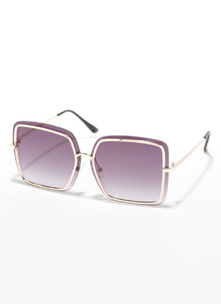 Outline The Details Square Sunglasses