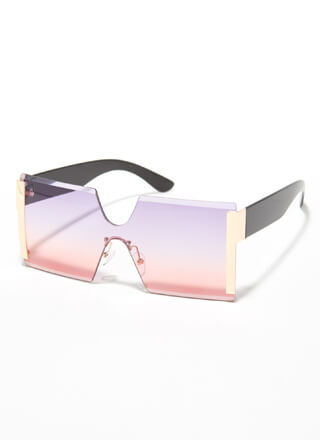 Side Hustle Frameless Square Sunglasses