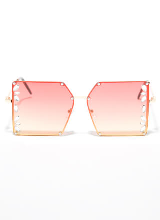 Clear As Crystal Square Sunglasses
