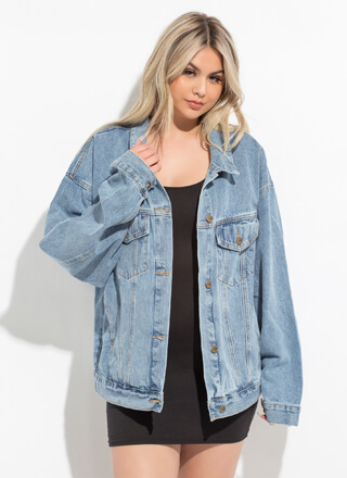 Classic Cool Oversized Jean Jacket