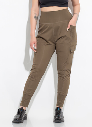 New Combo Drop-Crotch Cargo Joggers