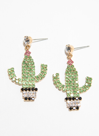 Cactus Coolest Jeweled Earrings