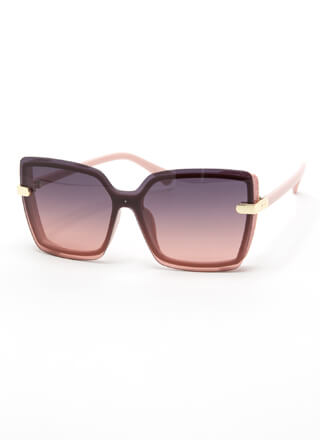 Go For The Glitter Square Sunglasses