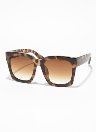 Go Big Oversized Thick-Rimmed Sunglasses