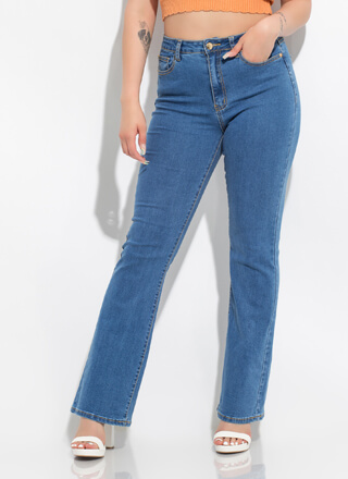 Something Vintage Flare-Leg Jeans