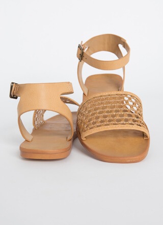Make A Basket Strappy Netted Sandals