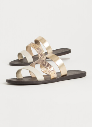 Little Snake Triple Strap Slide Sandals