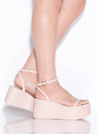 Thicc Girls Strappy Platform Wedges
