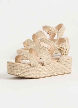 Natural Selection Braided Jute Wedges