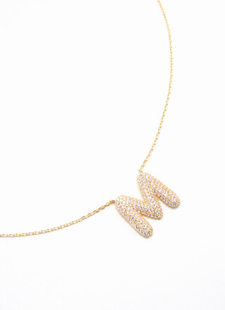 The Letter M Gold-Dipped Charm Necklace
