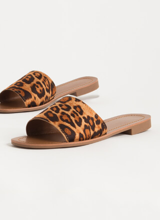 Simple Style Leopard Print Slide Sandals