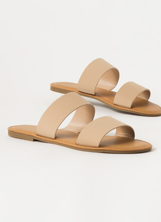 Poolside Party Faux Nubuck Slide Sandals