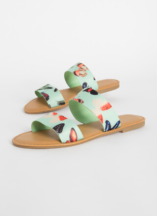 Poolside Party Butterfly Slide Sandals