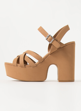 Oh High Strappy Super Chunky Platforms