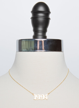 1994 Baby Gold-Dipped Year Necklace