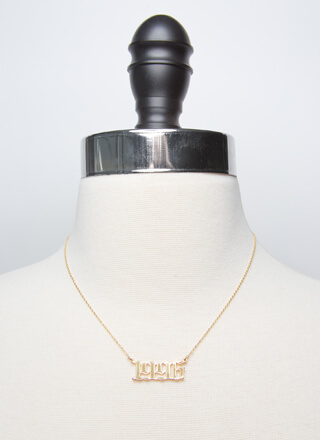 1996 Baby Gold-Dipped Year Necklace