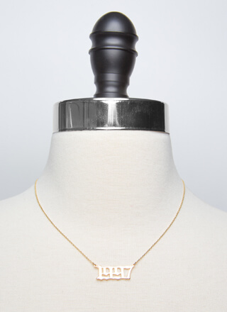 1997 Baby Gold-Dipped Year Necklace