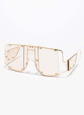 Bright Future Studded Cut-Out Sunglasses