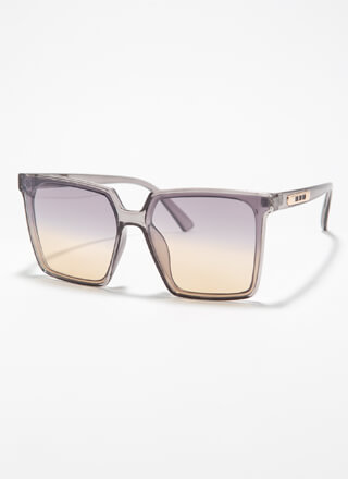 Keep Me In Mind Square Sunglasses