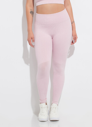 U Go Girl Ribbed High-Waisted Leggings
