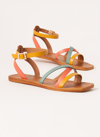 Step Out Strappy Multi-Colored Sandals
