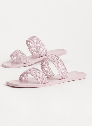 Lacy Sunday Braided Faux Leather Sandals