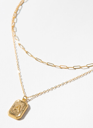 The Letter A Layered Charm Necklace