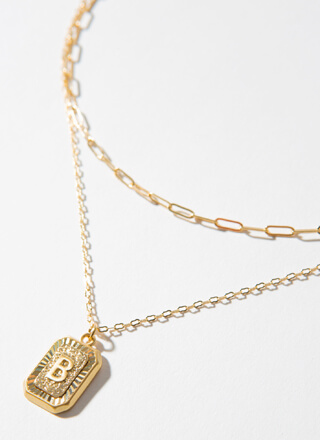 The Letter B Layered Charm Necklace