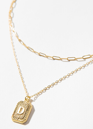 The Letter D Layered Charm Necklace