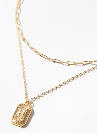 The Letter H Layered Charm Necklace