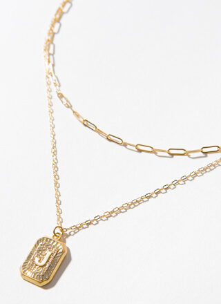 The Letter J Layered Charm Necklace