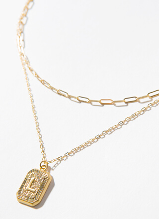 The Letter L Layered Charm Necklace