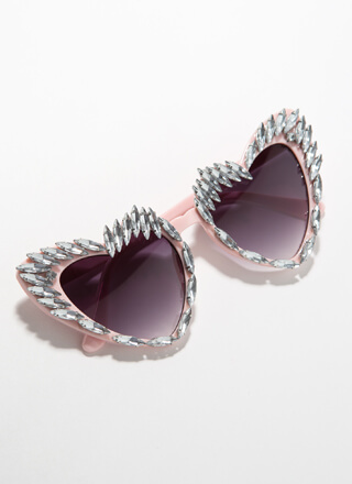 Wild At Heart Jeweled Flared Sunglasses