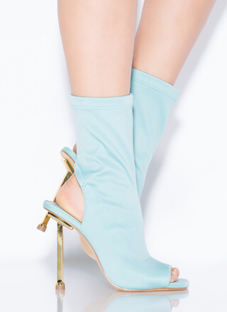 Time To Heel Cut-Out Peep-Toe Booties