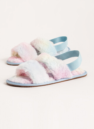 Furry Creatures Slingback Sandals