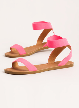 Beach Babe Stretchy Ankle Strap Sandals