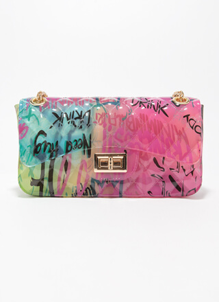 Graffiti Artist Airbrushed Jelly Purse