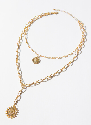 Celestial Bodies Layered Charm Necklace