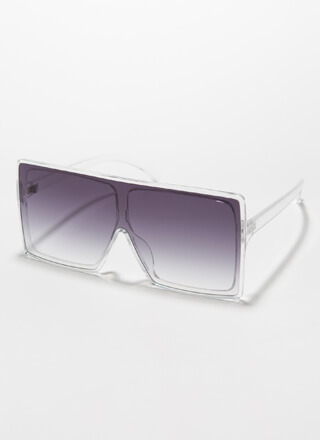Big Screen Oversized Square Sunglasses
