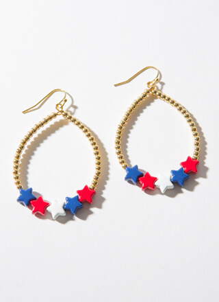 Thank Your Lucky Stars Beaded Earrings