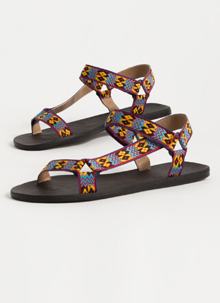 My Tribe Woven Strap Harness Sandals