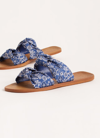 I'm Knot Home Bandana Slide Sandals