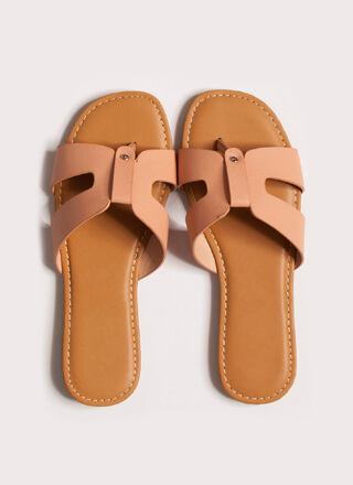 Butterfly Cut-Out Thong Sandals