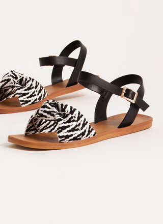 Boho Babe Knotted Two-Toned Sandals