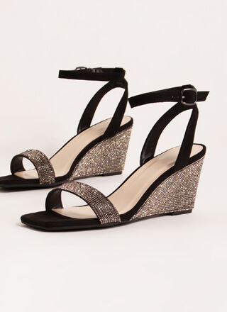 Brilliant Jeweled Strappy Wedges