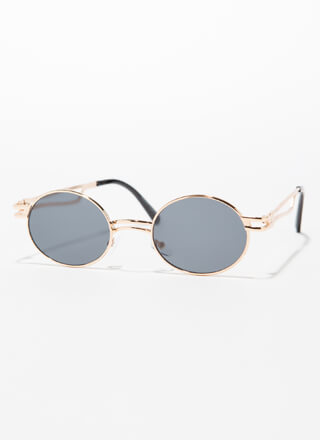 Poetry Reading Small Round Sunglasses
