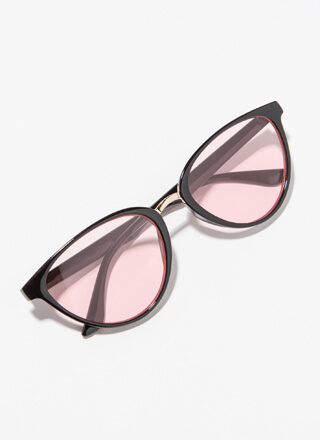 Color Theory Round Flared Sunglasses