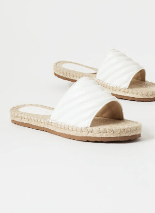 My Pad Quilted Braided Slide Sandals