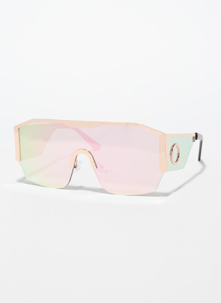 Ring Girl Trimmed Goggle Sunglasses