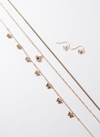Wing It On Butterfly Necklace Set